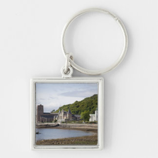 Coastal view with historic buildings, Oban, Keychain
