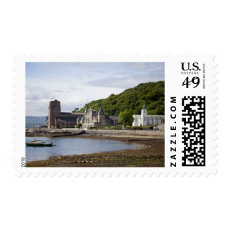 Coastal view with historic buildings, Oban, Postage