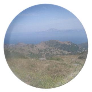 Coastal Views - Africa meets Europe Melamine Plate