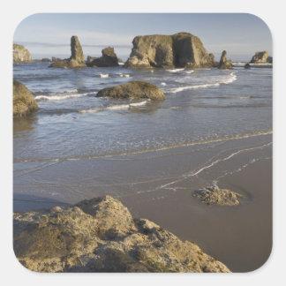 Coastal views, Bandon, Oregon Square Sticker