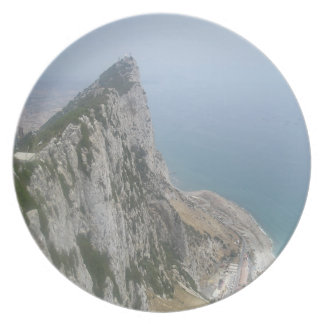 Coastal Views: Cliff Face at the Rock of Gibraltar Party Plate