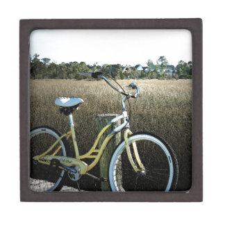 Coastal Vintage Bicycle Wooden Box