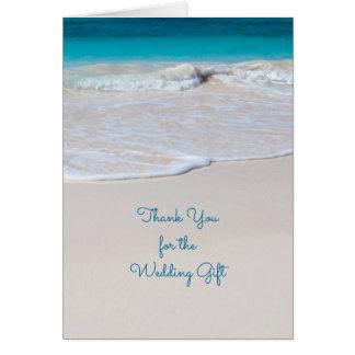 Coastal Vows Custom Wedding Thank You Note Card