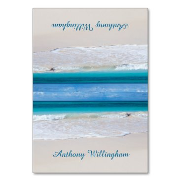 sandpiperWedding Coastal Vows Tented Beach Wedding Place Cards