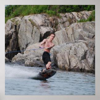 Coastal Wakeboarding Poster
