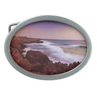 Coastal Waves Oval Belt Buckle