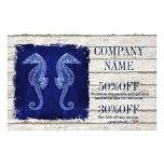 coastal whitewashed wood nautical blue seahorse flyer
