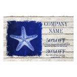 coastal whitewashed wood nautical blue starfish flyer
