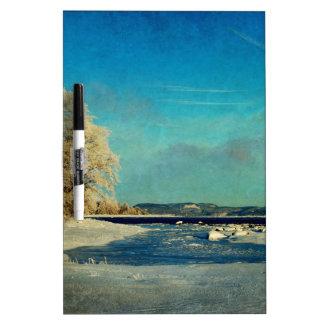 Coastal Winter Scene Dry-Erase Board