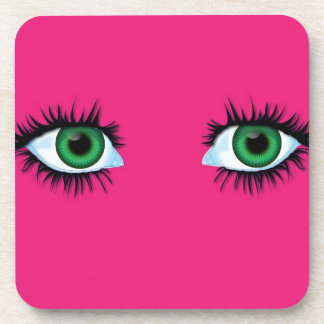 Coaster abstract background with eyes