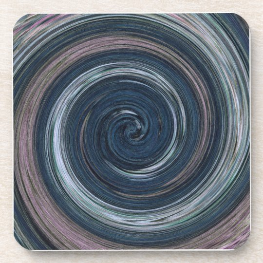 Coaster, Abstract Blue Spinning Swirl Coaster