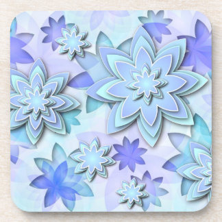 Coaster abstract lotus flowers