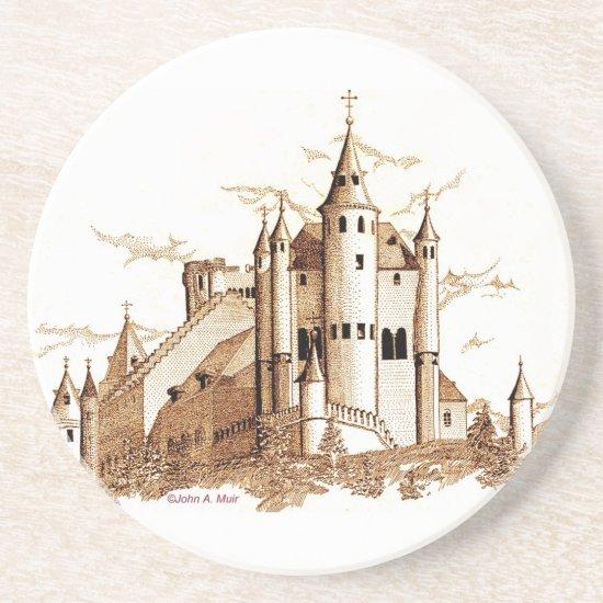 Coaster - Alcazar - castle  (sepia)
