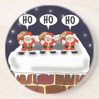 "Coaster ""Attack of The Mini-Santas"" - by Kev Moore"