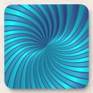 Coaster blue spiral vortex