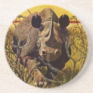 Coaster Charging Rhinoceros Rhino Charge wildlife