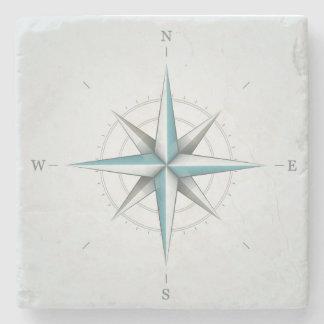 Coaster compass - Glasunderlägg in marble