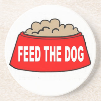 Coaster Dog Food Bowl Red Feed The Dog