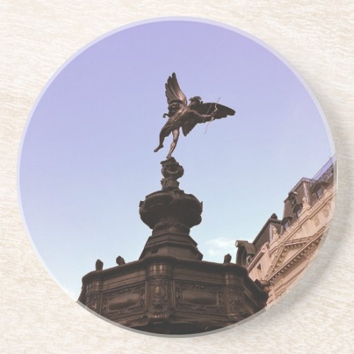 Coaster: Eros statue at Piccadilly Circus, London