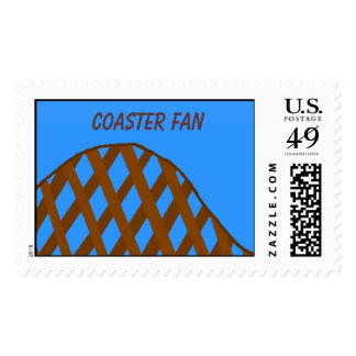 COASTER FAN - postage stamps