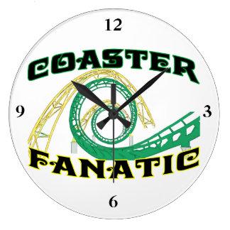 Coaster Fanatic Wall Clock