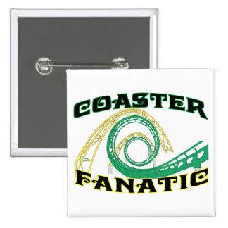 Coaster Fanatic Pinback Button