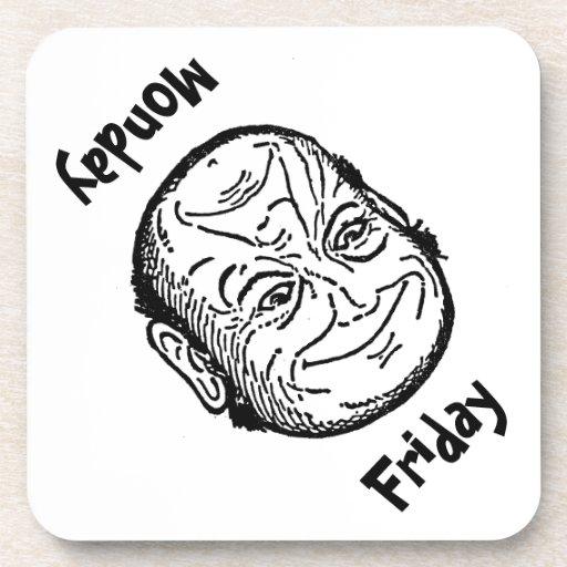 Coaster Fun Optical Illusion Morph Man Friday Mon