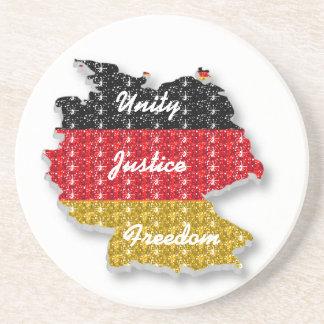 Coaster German Unity Justice Freedom