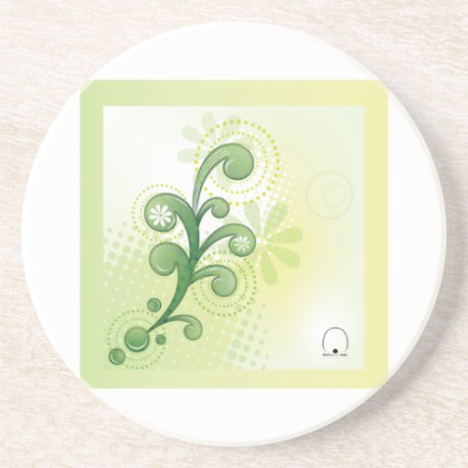 Coaster-Green 컵받침-그린 Drink Coasters
