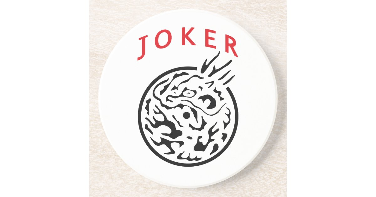 Coaster In Mah Jong Joker Tile Zazzle Com