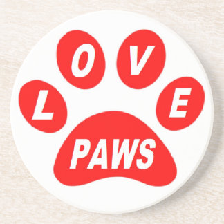 Coaster Love Paws on Paws Red