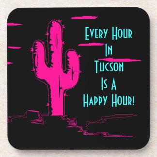 Coaster Neon Pink Saguaro Cactus Tucson Happy Hour