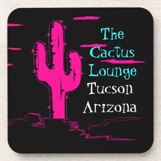 Coaster Neon Pink Saguaro Cactus Tucson Lounge
