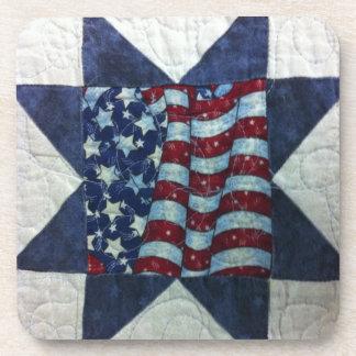 Coaster - Patriotic Flag Quilt Design
