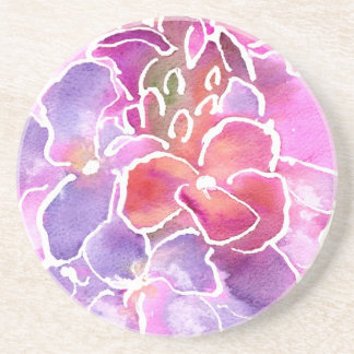 Coaster, Pink, Mauve, Blue Wallflowers Coaster