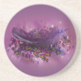 Coaster - Purple Fairys Feather