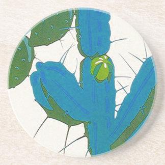 Coaster ~ Retro Cactus cacti Avacado & Turquoise