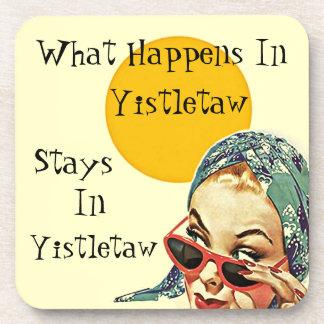 Coaster Retro Fun What Happens In Yistletaw Stays