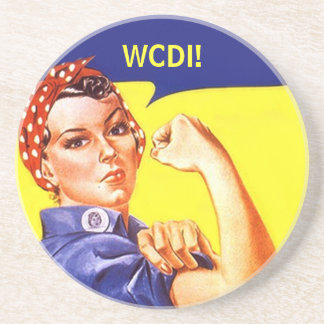Coaster Rosie The Riveter Text Msg WE CAN DO IT!