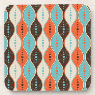 Coaster Seamless retro pattern grunge