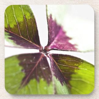 Coaster Set 4 Leaf Clover