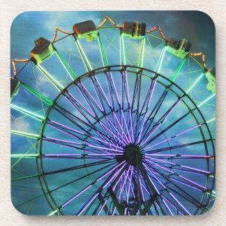 coaster set cork ferris wheel photograph
