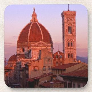 coaster set Florence Duomo at sunset