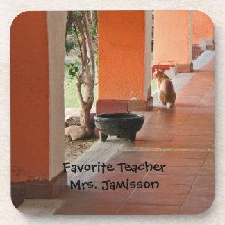 Coaster Set of 6, El Gato, Personalized, Teacher