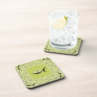 Coaster Set Of 6 : FISH TALE - CHARTREUSE