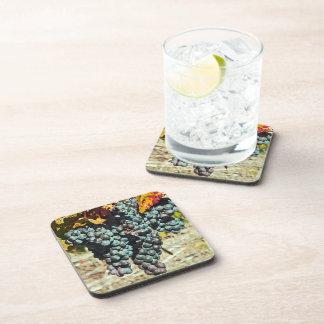 """Coaster/Set of 6 """"Grape Clusters In Vineyard"""""""