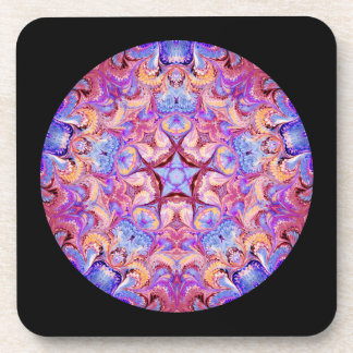 Coaster Set of Six with a Kaleidoscope Circle