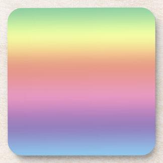 Coaster Set - Rainbow Stripes