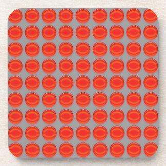 Coaster Set - Red dots