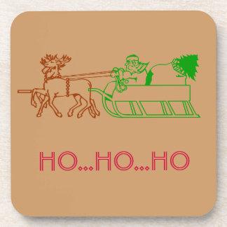Coaster set - Santa and reindeer